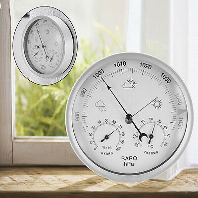 132mm Portable Wall Hanging Weather Temperature & Humidity Barometer 960~1060hPa