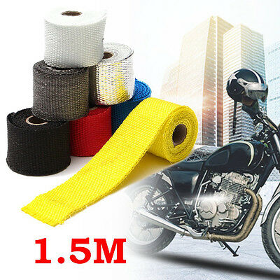 1.5M Exhaust Header Pipe Heat Wrap Manifold Turbo Shields Insulation Roll Tape