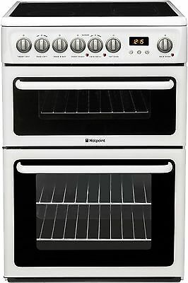 Hotpoint HAE60P FreeStanding 60cm Double Electric Cooker - White-From Argos ebay
