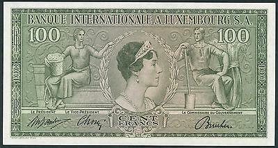 Luxemburg / Luxembourg 100 Francs 1956 Pick 13 (2)