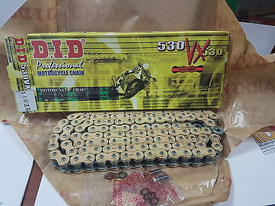 DID Motorcycle VXGB Gold X-Ring Drive Chain (530-116)