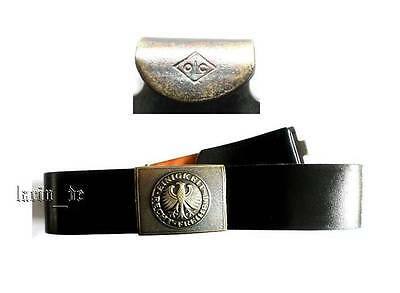 West german army . black leather belt + buckle with eagle 90cm Unity-Justice ...