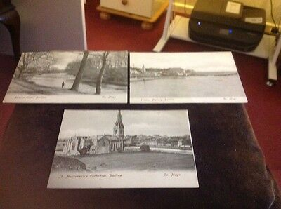VINTAGE iRELAND POSTCARDS 3 no OF CO MAYO
