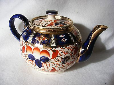 Antique Imari Teapot Arthur Wood 1629 Small With Makers Mark