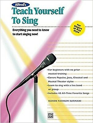 Alfred's Teach Yourself To Sing (Book & DVD)