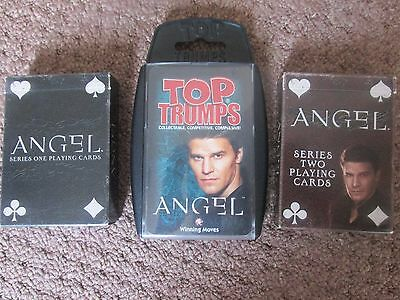 Buffy angel playing cards and Top Trumps David Boreanaz