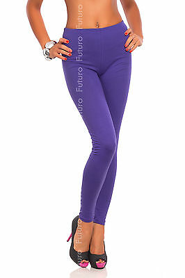 Full Length Lilac Premium Cotton Leggings Comfortable & Stretchy Sizes 8-22