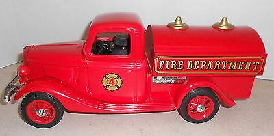1935 Ford Fire Pumper Truck Jim Beam Regal China Decanter Bottle Boxed