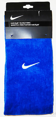 Nike Trifold Cotton Towel Blue Brand New