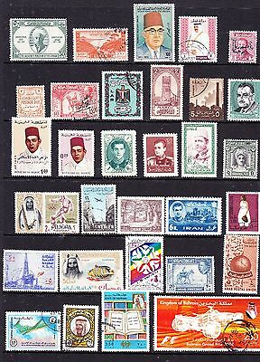 Middle East stamps - 31 MH & Used