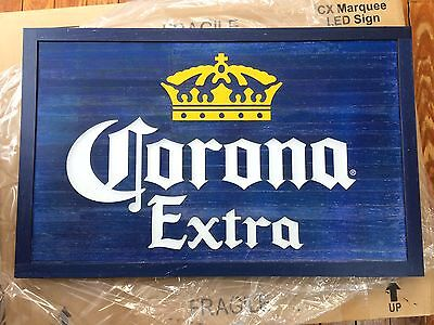 Corona Extra Beer Marquee Sign LED Lighted New In Box 30x19 Man Cave Tiki Bar