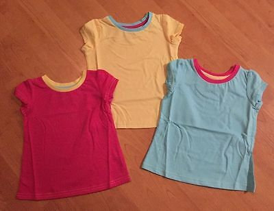 Joblot Of 21 X Girls Chad Valley Cotton Short Sleeve Tshirts Age 2-3 Years