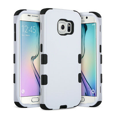 Hybrid Shockproof Rubber Protective Hard Case Cover For Samsung Galaxy S6 Edge