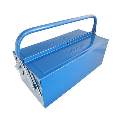 Draper 2 Tray Cantilever Metal Tool Box 430Mm Storage Tool Chest Garage Workshop