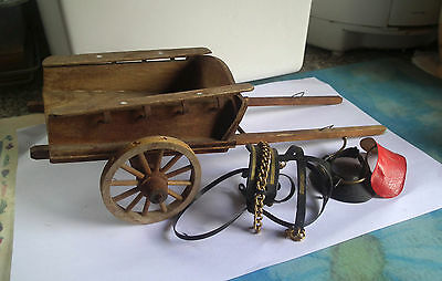 A Vinage Melba Ware wooden horse cart