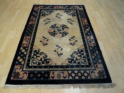"""CHINESE PEKIN CARPET RUG HAND MADE Antique WOOL traditional oriental 6FT 1"""" X 4F"""