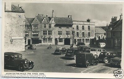 REAL PHOTO POSTCARD, STOW-On-THE-WOLD. THE KINGS ARMS