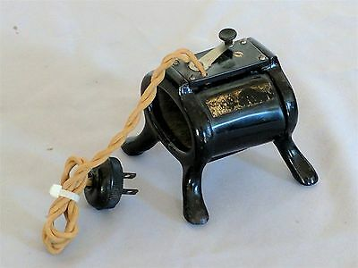 Antique WATCH DEMAGNETIZER  / Metal with original cord / early 20th Century