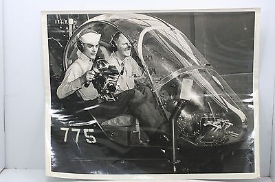 Vintage Navy Photo - 8 x 10 - Black & White - Helicopter #775