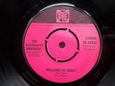 """ALEXANDER BROTHERS Millions Of Roses PYE Original 7"""" 1965 Excellent"""