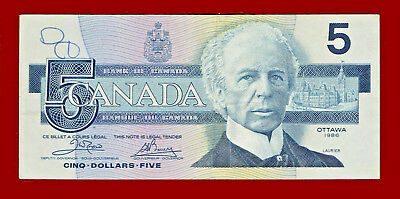 1986 Bank Of Canada Five Dollars Note 2278