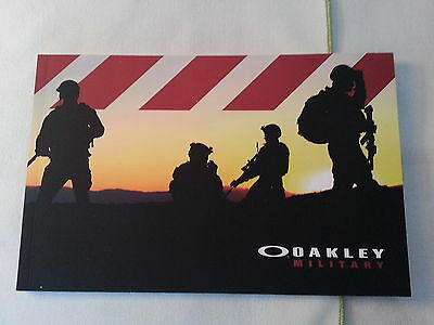 Oakley Military 2012 Product Catalog Booklet / New / 57 Pages
