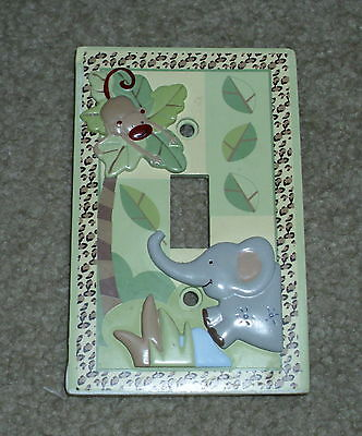 Lambs & Ivy ZOOFARI  Jungle Zoo LIGHT SWITCH PLATE Excellent!