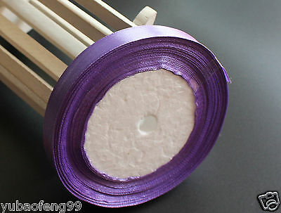 light purple 25yd Multicolor Satin Ribbon Wedding Sewing Embellishment 12MM