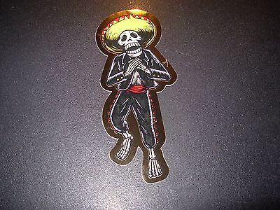 "PEARL JAM Sticker EDDIE VEDDER GOLD MUERTO Halloween 4"" tour concert merch gig"