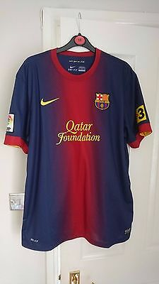 NIKE BARCELONA Home Football Shirt Men's Extra Large Soccer Jersey 2012 - 2013