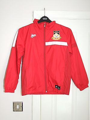 Avec WREXHAM FC Non League Red Football Coat Large Boys Soccer Training Jacket