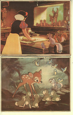 Disney - Two Cards - Bambi and Snow White