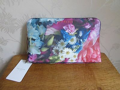 Ted Baker Extra Large Graphic Flower LILEEN Textured Wash OR Make-Up Bag BNWT