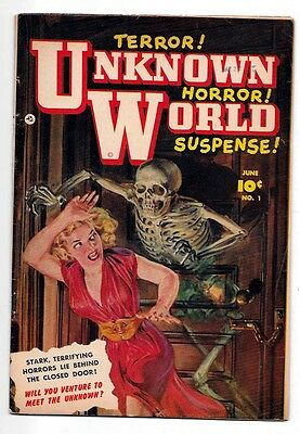 Unknown World #1 VF- 7.5 Norm Saunders Cover Golden Age Fawcett
