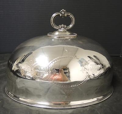 Antique Victorian Silver Plate Meat Cover Dome