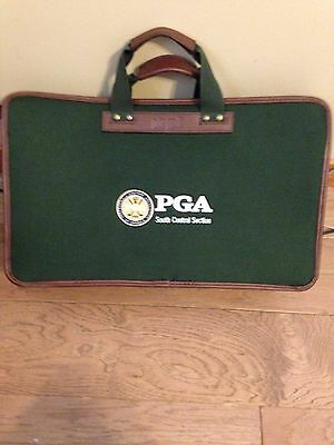 Green Pga South Central Section Brief Case With Free Shipping