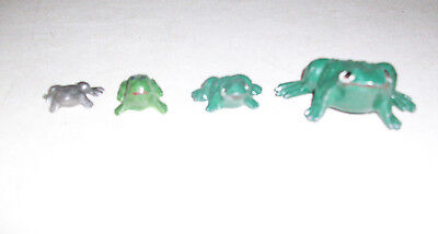 4 Metal Miniature Frogs Lead/cast Iron?? Add To Your Collection