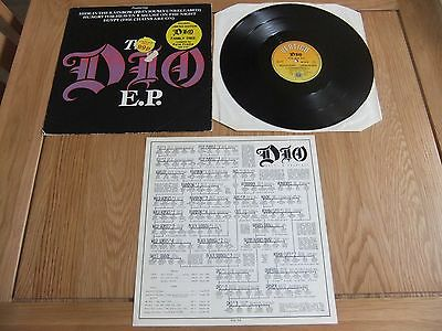"Dio, The Dio EP, 12"" Vinyl Single, With Ltd Ed, Dio Family Tree. VG/GD."
