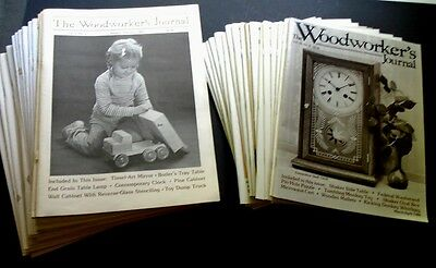 WOODWORKER'S JOURNAL Magazine Lot of 36 Issues COMPLETE 1983 - 1988