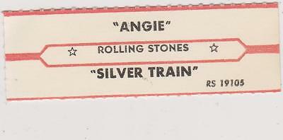 Rolling Stones-Angie Jukebox Title Strip