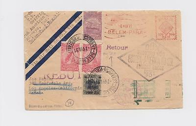(PAA-related) DoX-flown cover, rare Belem, Brazil posting by PAA flight engineer
