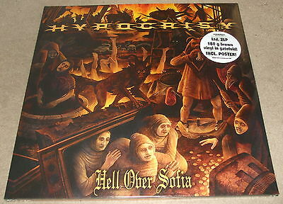 HYPOCRISY-HELL OVER SOFIA-2011 LIMITED ED. 2xLP BROWN VINYL+POSTER-NEW & SEALED