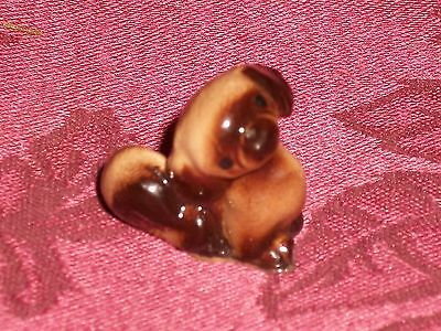 Adorable Vintage Hagen-Renaker Miniature Porcelain Pekingese Puppy Dog Figurine