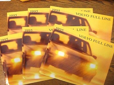 1995 Volvo Dealer Sales Brochure LOT (6) pcs, 960 850 940