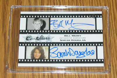 Bill Mumy / Sarah Douglas Leaf Dual Autograph Card - Lost In Space / Babylon 5