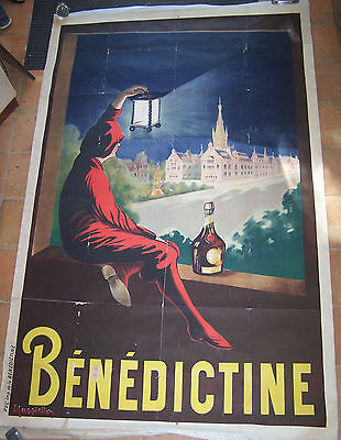 Affiche Ancienne Bar Café Liqueur Benedictine Cappiello Circa 1907 129 X 198 Cm