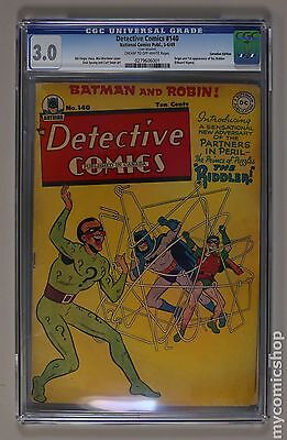 Detective Comics (1937 1st Series) Canadian Edition #140 CGC 3.0 0279606001