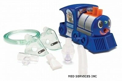 NEW Train Nebulizer Compressor For Kids. Lights Up During Use. Includes Stickers