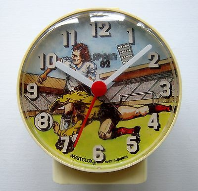 Rare Vintage Novelty Westclox Spain 82 1982 Fifa Football World Cup Alarm Clock