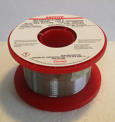 Loctite 291587 - 110gms Reel 0.7mm Dia. Multicore Leaded Flux Solder - T48 Post